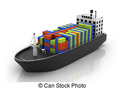 cargo boat clipart container ship stock illustration images 15 757 container