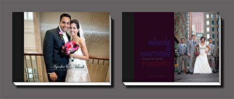 Wedding Story Book Cover Page by Toronto Wedding Albums Wedding Album Designers Toronto