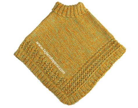 poncho para ni a en crochet y agujas circulares tricot poncho de 2 cuadrados para ni 241 as tejiendo per 250