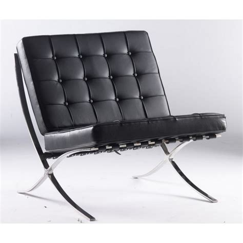 fauteuils barcelona fauteuil barcelona en cuir noir