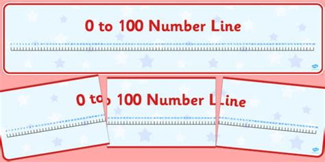 printable display number line to 100 0 100 number line display banner 0 100 numberline display