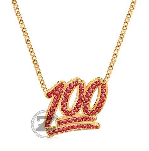 emoji jewelry 100 emoji ruby red pendant 14k gold