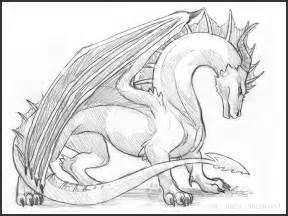 imposing dragon sketch by idess on deviantart