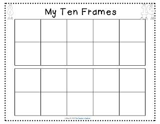 free ten frames math counts pinterest