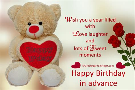 Advance Happy Birthday Wish Pin Advance Happy Birthday Wishes Pictures On Pinterest