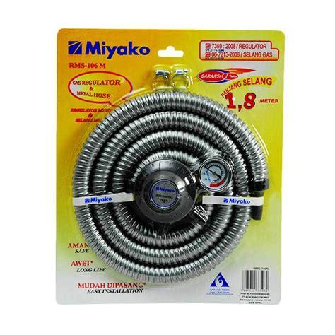 Paket Kompor 1 Tungku Miyako Regulator Selang Miyako Sni jual miyako rms 106m paket selang regulator gas