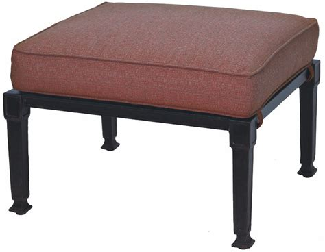 patio furniture ottoman patio furniture deep seating ottoman cast aluminum charleston