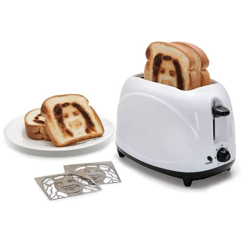 photo gifts the selfie toaster hammacher schlemmer