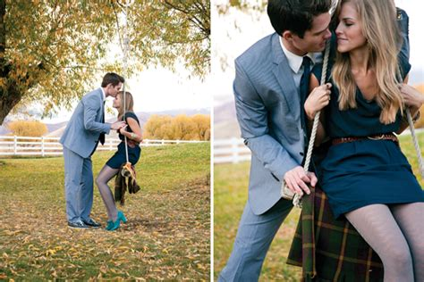 swinging couple blog lakeside proposal and engagement session it girl weddings