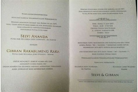 ini isi undangan pernikahan putra jokowi republika