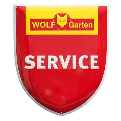 wolf garten service werkstatt aluminiumschild wolf garten service emailleschilder