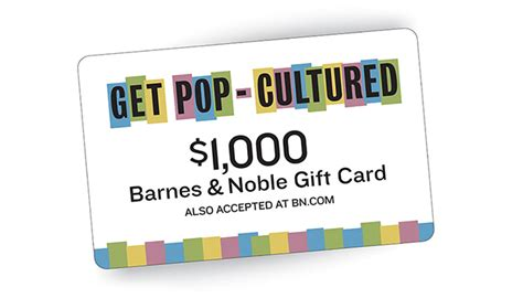 Where Can I Buy Barnes And Noble Gift Cards - get pop cultured with barnes noble gift card sweepstakes barnes noble reads