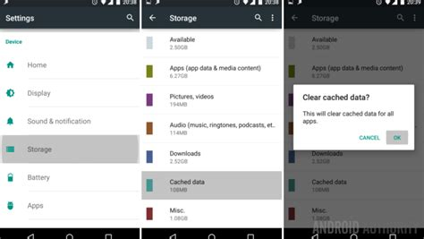 how to clear cache on android android customization how to regain storage space by