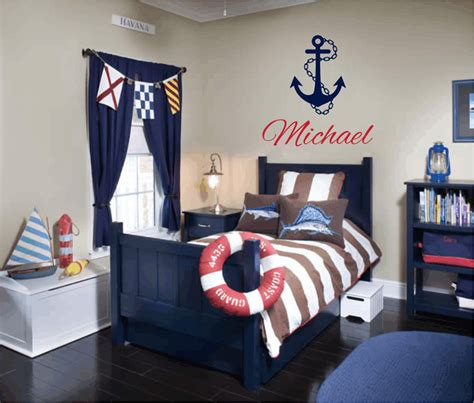 sailor baby room nautical vinyl wall decal personalized name wall by wallartsy