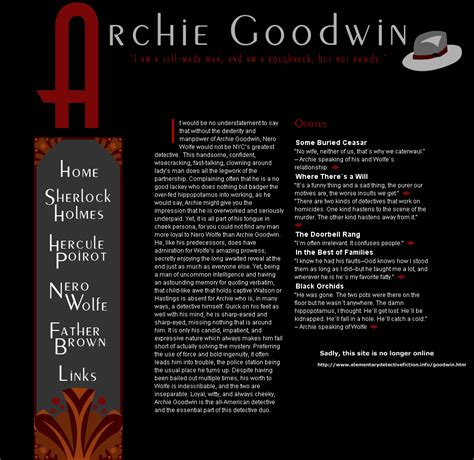 If Slept Nero Wolfe archie s corner with an accumulation of information
