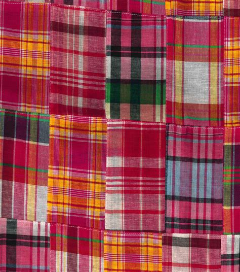 Patchwork Madras Fabric - fashion cotton fabric madras patchwork cotton jo