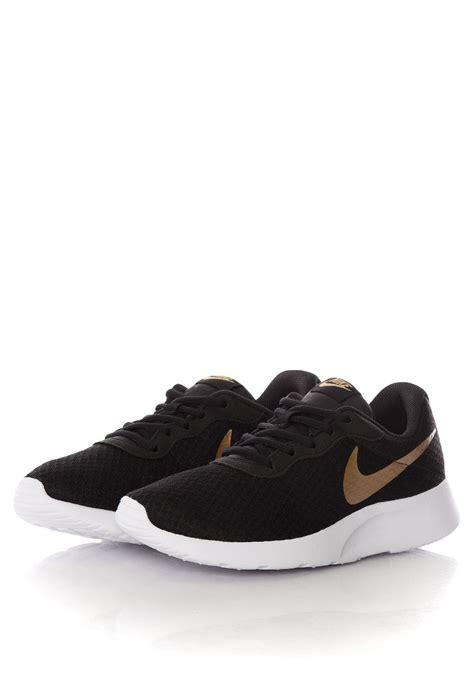 black and gold nike shoes nike tanjun black metallic gold shoes impericon