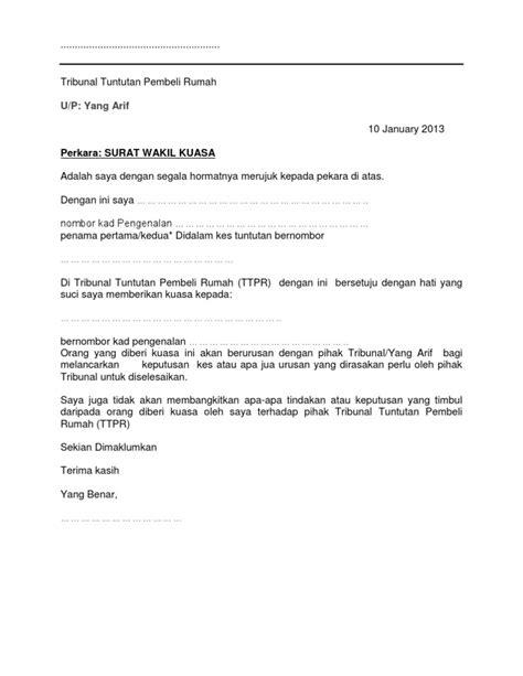 surat wakil kuasa