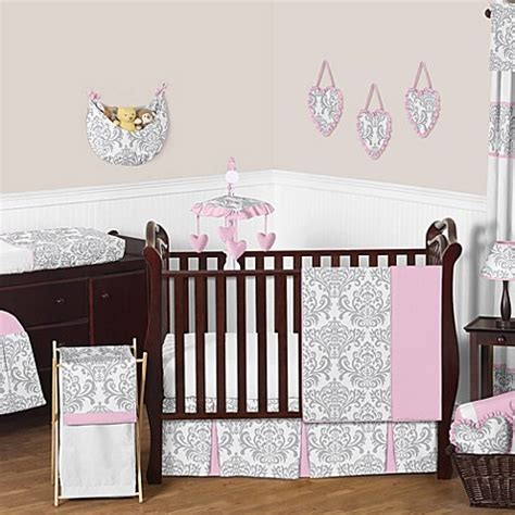 grey nursery bedding set sweet jojo designs elizabeth 11 crib bedding set in pink grey bed bath beyond