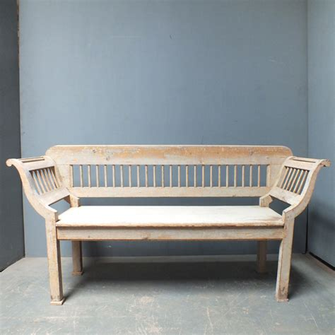 Bench Style Sofa by Lovely Pale Grey Spindled Bench In Neo Classical Sofa