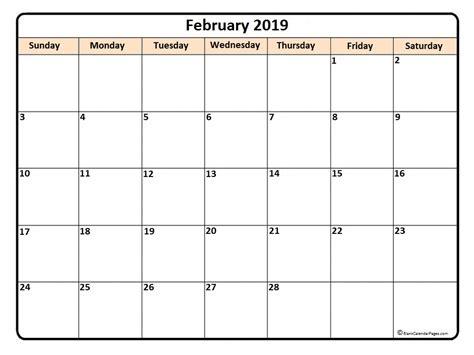 Calendar 2019 Printable February 2019 Calendar February 2019 Calendar Printable