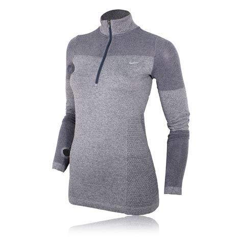 nike dri fit knit half zip nike dri fit knit s sleeve half zip top