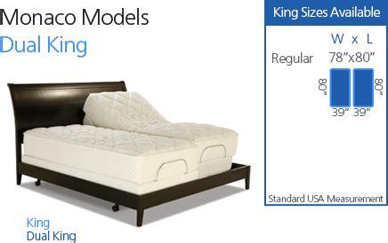 monaco adjustable bed craftmatic adjustable beds