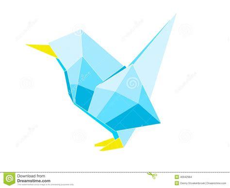 Origami Bird Drawing - origami bird stock illustration image 40942984