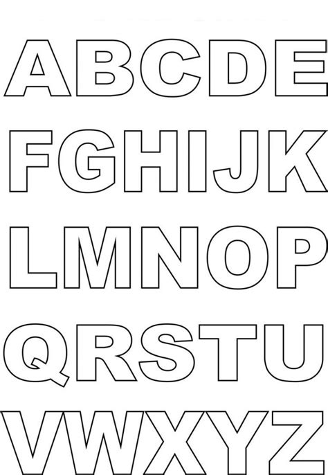 letter templates for posters capital alphabet letters for kids kiddo shelter