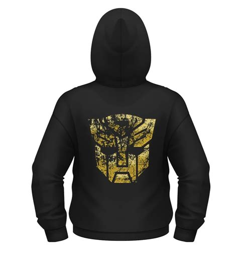 Zipper Hoodie Transformer Autobots Special Edition Hitam transformers gold autobot shield zoodie official somethinggeeky