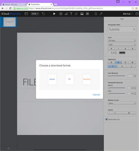 file format keynote open and convert keynote presentations online