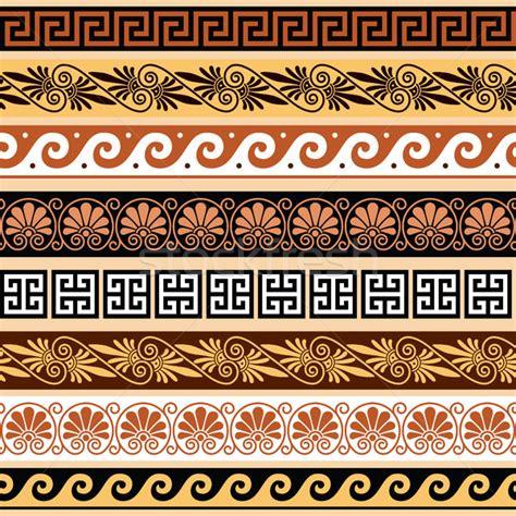 greek pattern name ancient greek pattern seamless set of antique borders