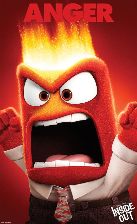emoji characters inside out rage out to the third character poster from disney pixar s
