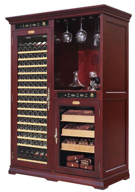 humidor wine rack cabinet sell vinbro wine cigar combo cabinet furniture