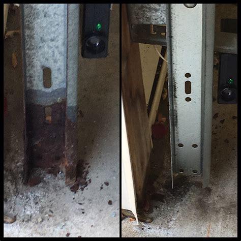 beware  rusty garage door track