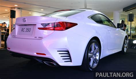 lexus rc coupe launched in malaysia rc 350 luxury for
