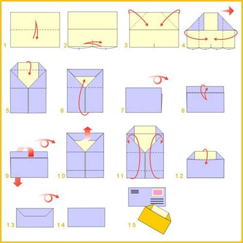 Origami Envelope Diagram - 453 best images about origami envelopes letter folding