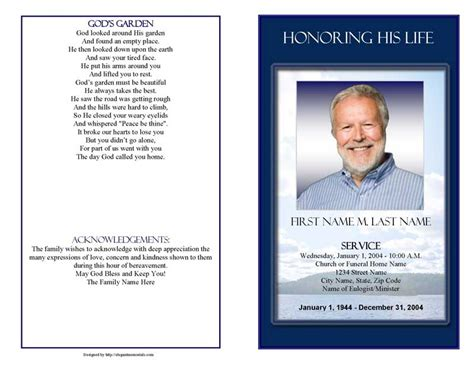 funeral program template microsoft publisher quotes quotes
