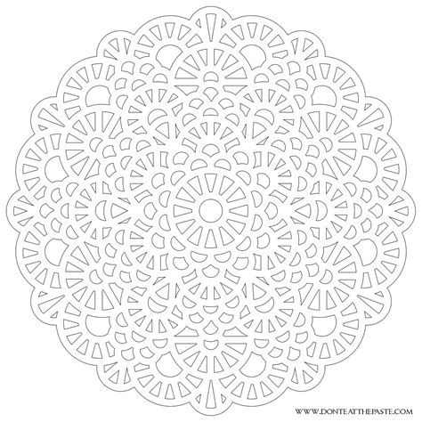 Crochet Inspired Mandala Png 1600 215 1600 Other Crafts Difficult Mandala Coloring Pages