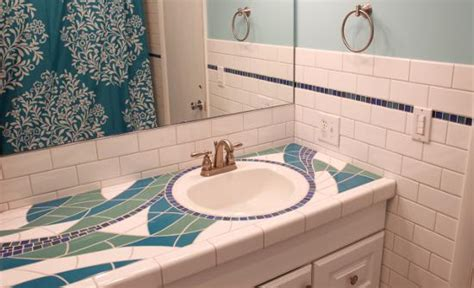 mosaic bathroom countertop mosaic bathroom countertop sycamore tile works