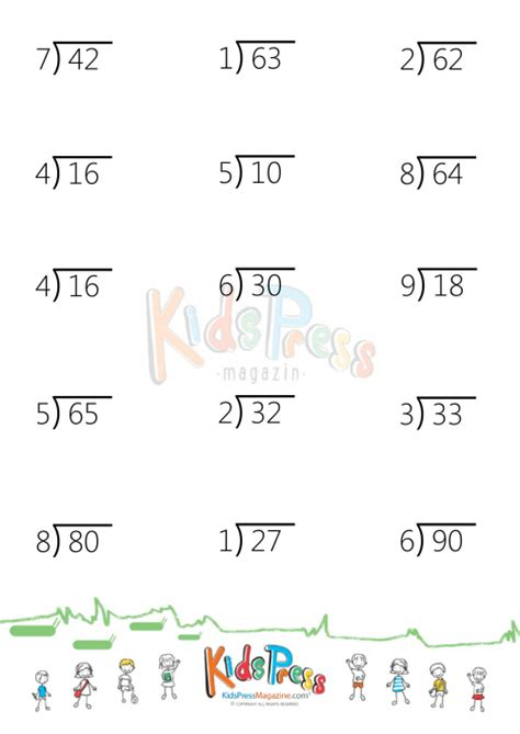 2 And 3 Digit Division Worksheets by Division Problems With 2 Digit Dividends 3rd Sheet
