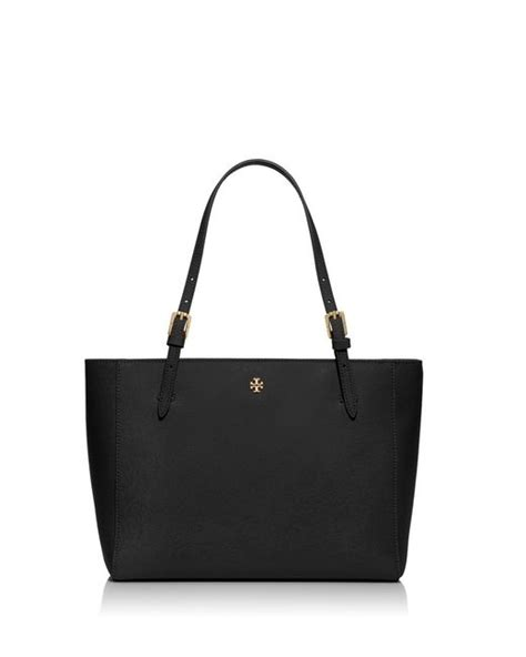 Ready Toryburch York Small Buckle Tote Black burch york small buckle tote in black lyst