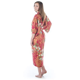 Teenage Red Cotton Japanese Girls Kimono