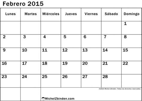 calendario enero 2015 en blanco para imprimir gratis calendarios blanco y negro febrero 2015 todo im 225 genes