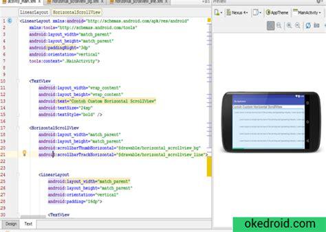 cara membuat file xml di android cara membuat contoh custom scrollview horizontal pada