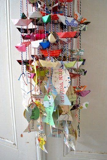 Origami Mobile Kit - beautiful paper chandelier and bon voyage on