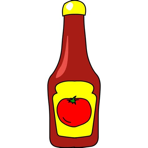 ketchup clipart ketchup clipart pencil and in color ketchup clipart