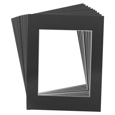 10 x 10 black frame with mat 10 mats premier quality acid free pre cut 16x20 black