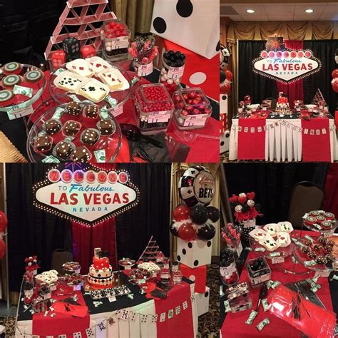 vegas theme decorations the dessert table set up for a casino themed 30th birthday