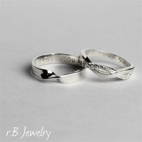 his and infinity rings 17 best ideas about couples promise rings on